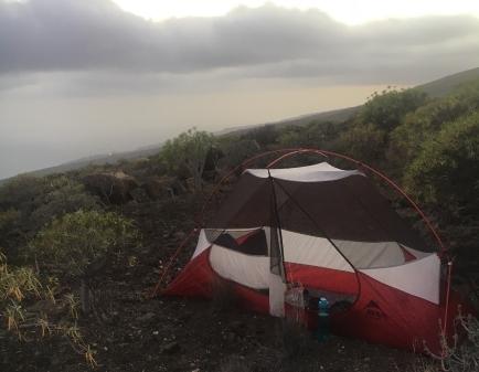 Zelten auf dem GR132